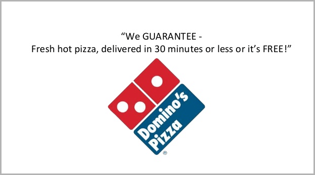 Domino's guarantee