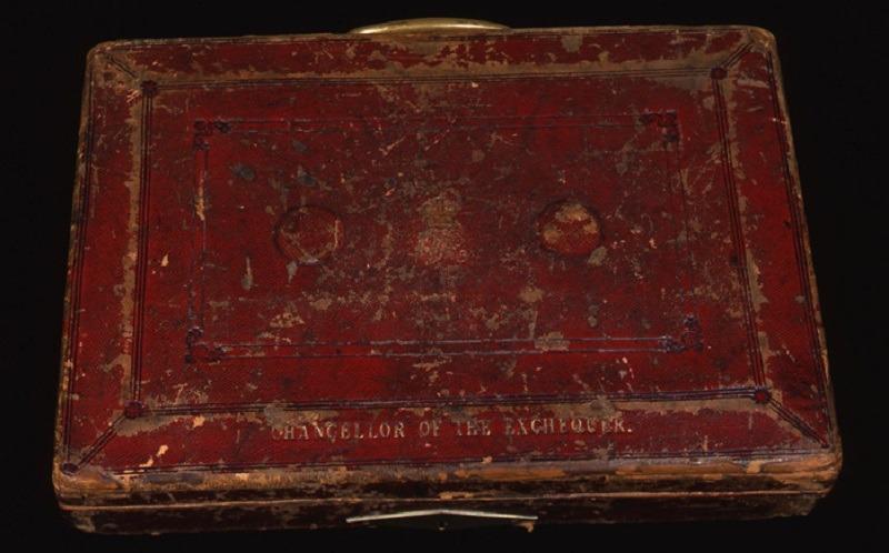 Budget box red briefcase